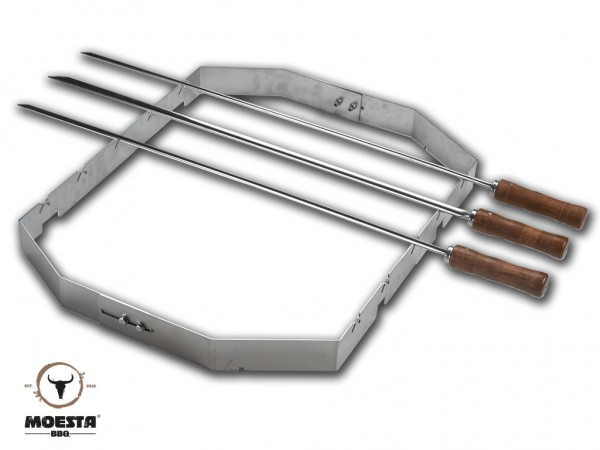 Churrasco'BBQ Set für PizzaRing 57 cm