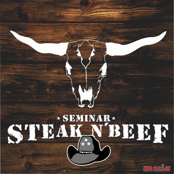 Grillseminar Steak n' Beef Logo im BBQ Saloon Minden