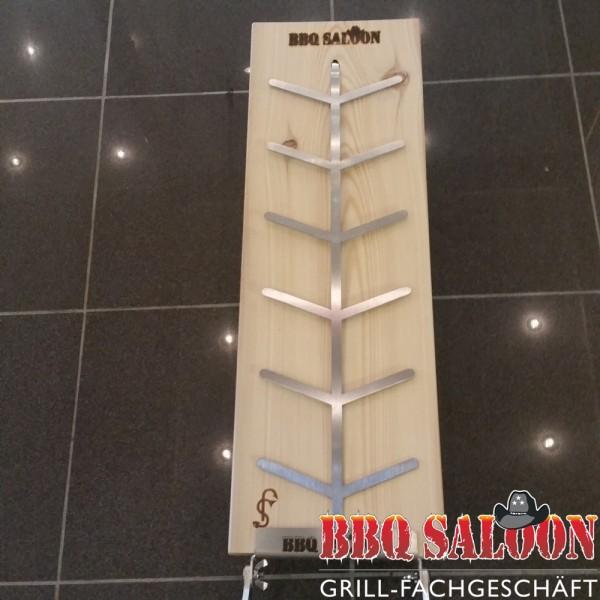 BBQ Saloon Flammlachsbrett 6mm Nut -geschraubt-