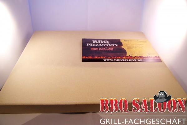 BBQ Saloon Pizzastein eckig 38x30x3,0 cm